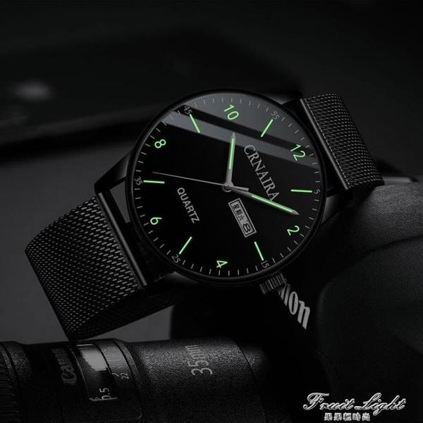 新款瑞士手錶男士高中學生潮流機械錶黑科技運動防水夜光電子 果果輕時尚