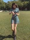 旗袍 旗袍改良版連衣裙女夏季新款中國風復古氣質收腰顯瘦a字格子短裙 夢藝家