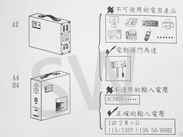 A4兩用型鐵捲門 鐵捲門免斷電 火災停電的好幫手 鐵捲門專用 UPS不斷電系統 電壓110V/220