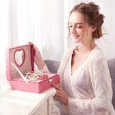 首飾盒公主歐式帶鎖飾品木質收納盒