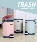 大號腳踏式垃圾桶家用衛生間客廳臥室廚房創意有蓋帶蓋廁所腳踩筒QM 依凡卡時尚