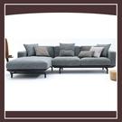 【多瓦娜】愛爾蘭L型沙發(面左)(含抱枕) 21152-426004