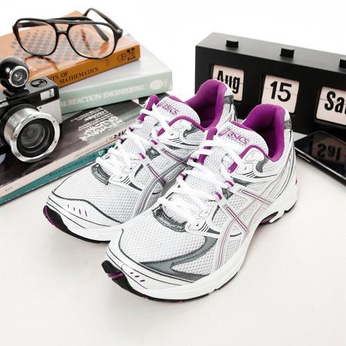 LIKA夢 Asics亞瑟士 專業慢跑鞋 GEL-OBERON 5 白紫灰 T170N-0193 女 超殺NG商品