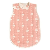 Hoppetta 兒童防踢被背心(L)-綿羊粉 2-7歲 | 日本製六層紗-寢具用品(嬰幼兒/寶寶/小童)