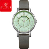 JULIUS 聚利時愛情旋曲內凹錶盤皮錶帶腕錶大象灰31mm ~JA 1041B ~