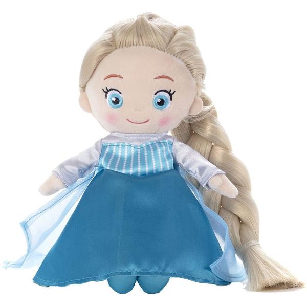 特價 T-ARTS 冰雪奇緣 艾莎梳髮絨毛娃娃_TA23853