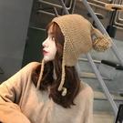 毛帽 帽子冬女潮韓版百搭針織帽加絨加厚保暖護耳帽韓國軟妹可愛毛線帽 尾牙