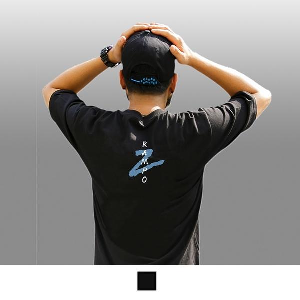 【男人幫】T8064*台灣製造加大尺碼ZAMPO字母塗鴉印花T