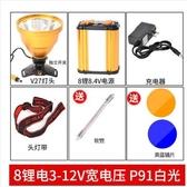 疝氣燈 超亮P90頭燈12鋰電強光充電遠射100000W分體式氙氣礦燈頭戴手電筒 星河光年
