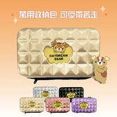 【DUOMENG BEAR】多夢熊行李箱造型硬殼化妝包 多功能收納包 旅行包 萬用包(五色可選)