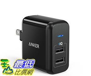 [106美國直購] Anker 24W Dual USB Wall Charger PowerPort 2 (with 2 Ports and Foldable Plug)集線器/充電器