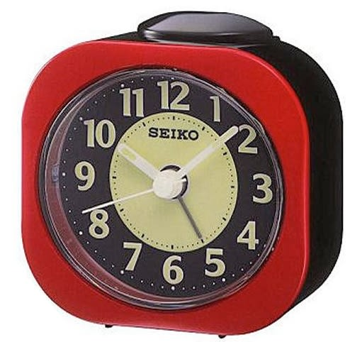 【時間光廊】SEIKO 日本精工 靜音 夜光 滑動式秒針 紅 旅行鬧鐘 全新原廠公司貨 QHE121R