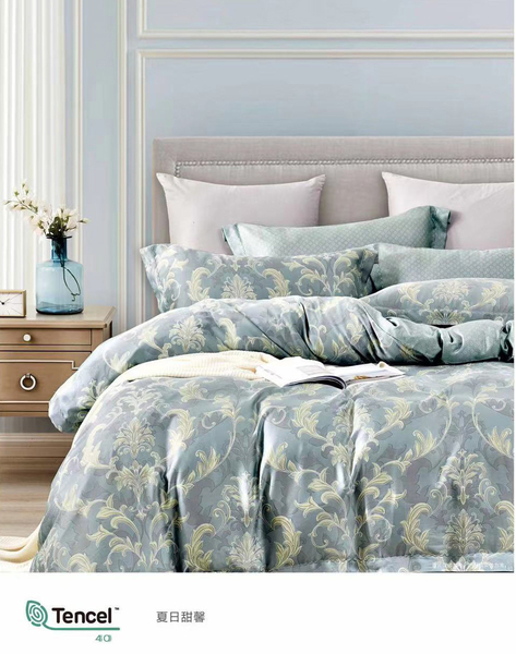 純天然天絲萊賽爾蘭精公司床包組+兩用被雙人加大