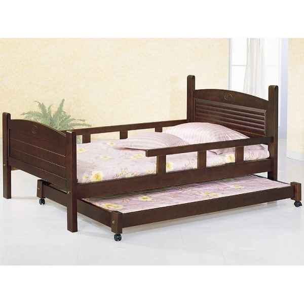 床架 床台 AT-584-89 凱特胡桃3.5尺母床+子床 (不含床墊) 【大眾家居舘】