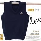 【大盤大】V2-865 防縮 V領背心 可機洗 SS號 套頭羊毛衣 深藍 100%純羊毛 素面毛衣 兒童 學生制服