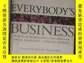 二手書博民逛書店英文原版罕見Everybody s Business by D