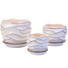 花盆陶瓷特大創意個性帶托盤塑料綠蘿吊蘭多肉小花盆 蘿莉小腳丫