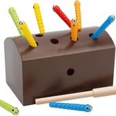 兒童玩具早教1-2-3周歲嬰兒女寶寶益智男孩磁性釣抓蟲子游戲積木   「青木鋪子」