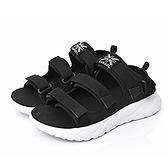 KANGOL 男款黑色戶外涼拖鞋-NO.6951230120