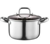 不銹鋼湯鍋家用燃氣加厚煲湯鍋電磁爐鍋不黏煮粥鍋奶瓶鍋不銹鋼鍋ATF 美好生活居家館