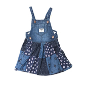 OSHKOSH 細肩帶牛仔吊帶裙 藍拼接 | 女寶寶洋裝(嬰幼兒/兒童/小孩)