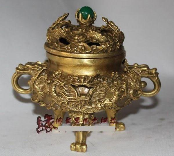 佛聖堂風水銅器 純銅開光銅鼎檀香爐