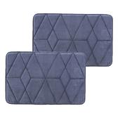 (組)新超吸水舒壓踏墊50x80 幾何靛藍 2入