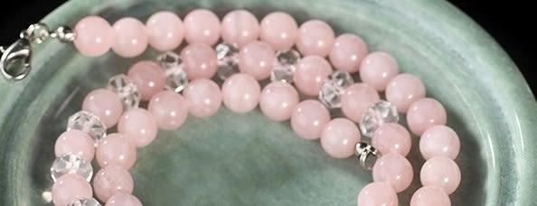 [協貿國際]天然粉水晶項鍊單條價
