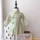 洋裝女童連身衣裙中國風洋氣毛衣裙兒童復古旗袍荷葉邊【小獅子】