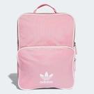 adidas 後背包 Classic Backpack 粉紅 白 三葉草 女款 包包 【ACS】 DH4312