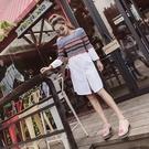 洋裝-長袖一字領撞色拼接針織女連身裙73pu37【巴黎精品】