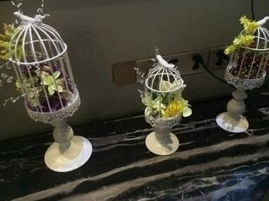 法式鄉村蕾絲鳥籠鐵藝燭台擺件婚慶蠟燭燈紙杯蛋糕架甜品架馬卡龍