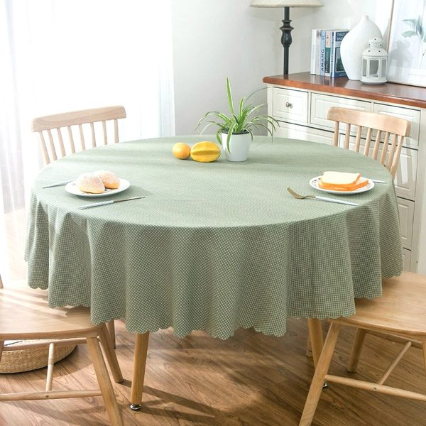 時尚可愛空間餐桌布 茶几布 隔熱墊 鍋墊 杯墊 餐桌巾 633 (直徑100cm)