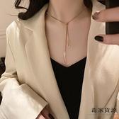 鈦鋼簡約項鍊女潮百搭輕奢氣質鎖骨鍊子脖子飾品【毒家貨源】