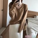 秋季衣服短裝上衣女韓版毛衣時尚寬鬆熀衣服可愛長袖秋季ins氣質 春季上新