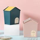 垃圾桶創意桌面網紅垃圾桶少女心迷你收納盒桌上可愛茶幾車載臥室垃圾桶 晶彩