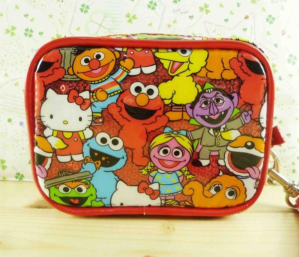 【震撼精品百貨】Sesame Street_芝麻街~多功能造型包-紅滿版