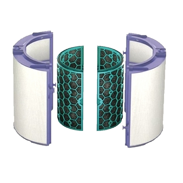 [9美國直購] Dyson 濾網 Replacement (HP04/TP04/DP04) Sealed Two Stage 360° Filter System, Purple/Teal