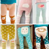 童裝 嬰兒 韓版 寶寶 動物造型 針織 九分 屁屁褲 BW