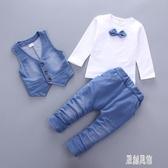 男童禮服2小花童男寶寶西裝套裝0-1-3周歲嬰幼兒童秋冬馬甲三件套 LR12406【原創風館】