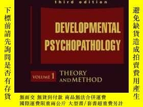 二手書博民逛書店Developmental罕見Psychopathology, Volume 1, Theory and Meth