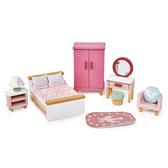 【美國Tender Leaf Toys】豪華粉色臥室套組(娃娃屋配件)