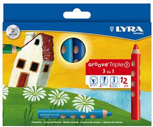 【德國LYRA】GROOVE(3合1)胖胖三角洞洞筆(12色) ★贈專用削筆器