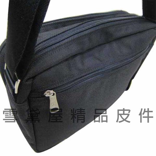 ~雪黛屋~CONFIDENCE 斜側包台灣製造高品質保證高單數防水尼龍布1680D二層主袋口設計隨身ACB1231