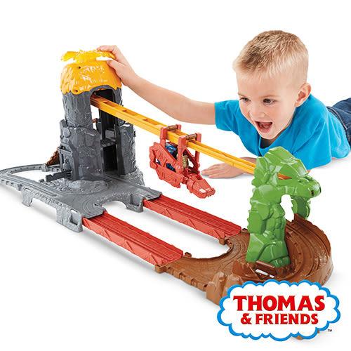 湯瑪士小火車 帶著走系列 火山恐龍吊車冒險軌道遊戲組 美泰兒正貨 麗翔親子館