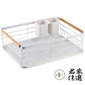 廚房碗筷置物架瀝水碗架放碗櫃的餐具碗碟收納架【君來佳選】