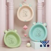 【2個裝】洗臉盆可折疊新生兒童塑料可愛卡通小盆子【古怪舍】