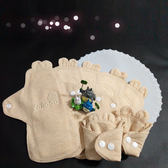 Lohogo 可愛兔子耳朵布衛生棉/有機環保可洗小流量衛生棉(S小號20cm)-7片 Lohogo樂馨生活館推薦