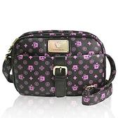 【南紡購物中心】【Dennibella 丹妮貝拉】紫色皇冠時尚質感小方包