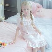 女童睡裙夏純棉兒童睡衣薄款夏季公主親子可愛公主風女寶寶睡衣裙 米娜小鋪